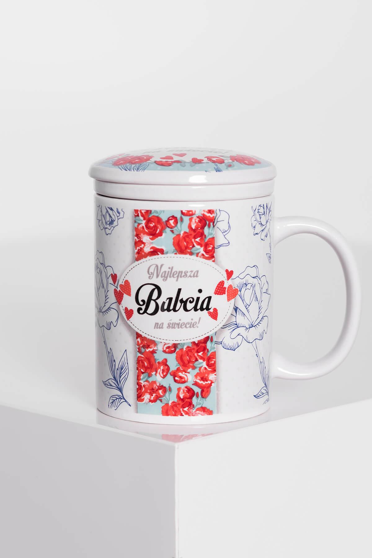 5ed135b9eae604 Kubek z zaparzaczem w róże dla Babci - Sklep MG Shohlari Home & Gift