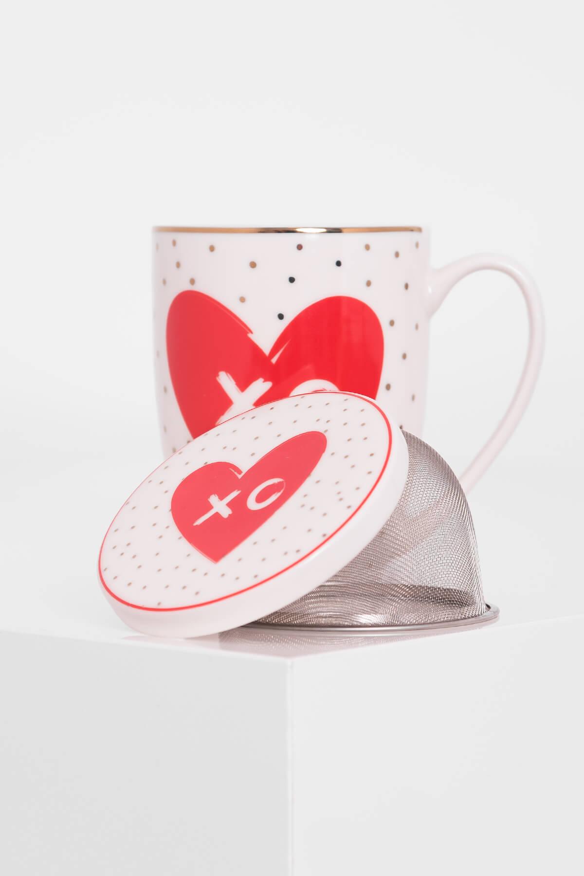 009189370cfc7c Porcelanowy kubek z zaparzaczem 300 ml - Sklep MG Shohlari Home & Gift