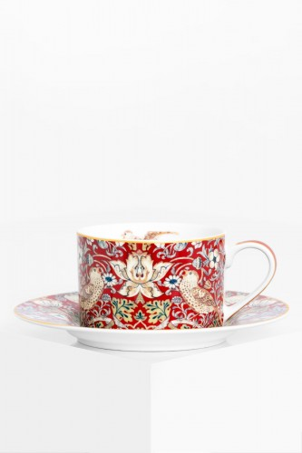 Porcelanowa filiżanka 240 ml WILLIAM MORRIS RED