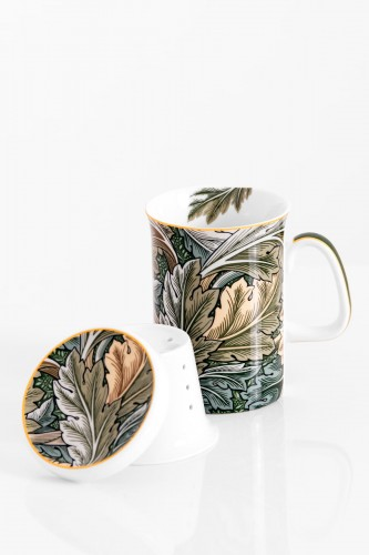 Porcelanowy kubek z zaparzaczem WILLIAM MORRIS autumn