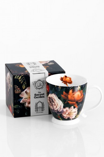 Porcelanowy kubek 480 ml FLOWERS dark