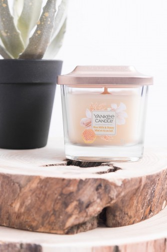 Yankee Candle Elevation Rice Milk & Honey mała kwadratowa świeca 96 g
