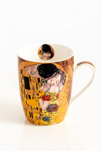 Porcelanowy kubek 380 ml THE KISS by Gustav Klimt
